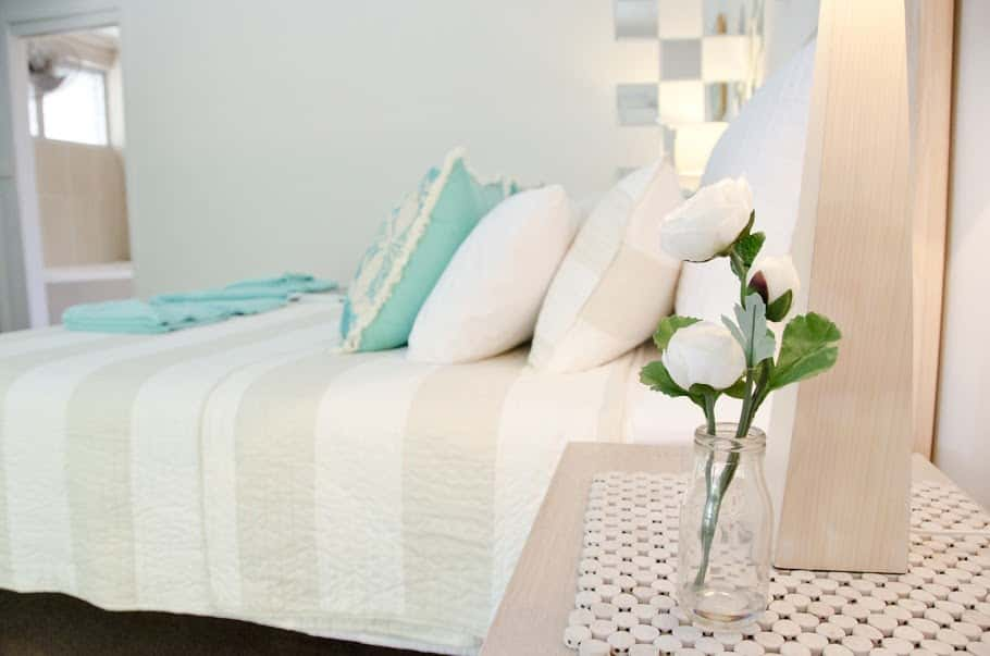 Sally's Beach Shak Bedroom With Flowers